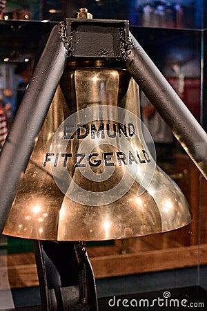 Edmund Fitzgerald Bell Editorial Stock Image