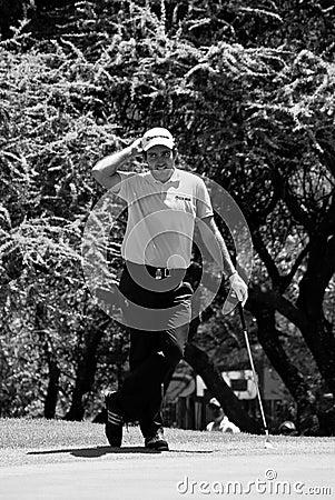 Eduardo Molinari auf dem 7. Grün - NGC2010 Redaktionelles Stockfotografie