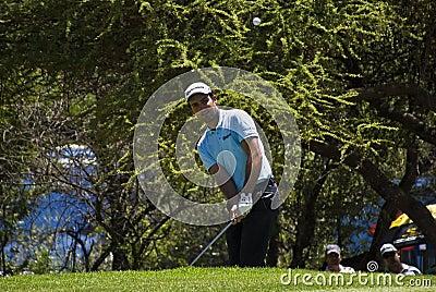 Eduardo Molinari en el 7mo verde - NGC2010 Imagen editorial
