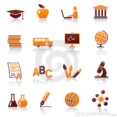 Free Education And School Icons Royalty Free Stock Photos - 17021848