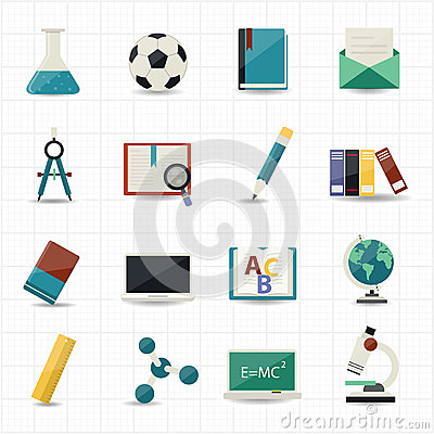 Free Education And Science Icons Stock Image - 39135061