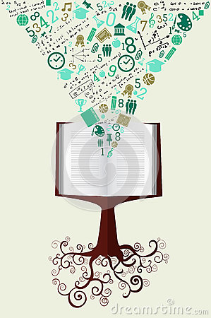 Free Education Back To School Green Icons Book Tree. Royalty Free Stock Photos - 32998748