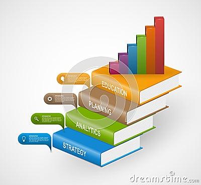 Free Education Books Step Option Infographics Design Template. Stock Photos - 67229713