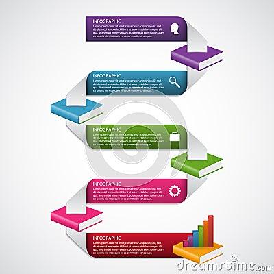 Free Education Books Step Option Infographics Design Template. Stock Photos - 71878713