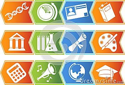 Education Button Set - Chevron