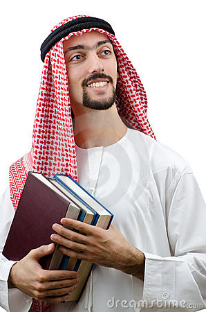 Education concept with  arab