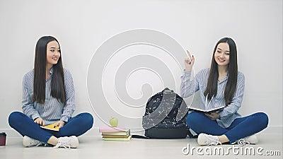 Asian girl giving head on knees