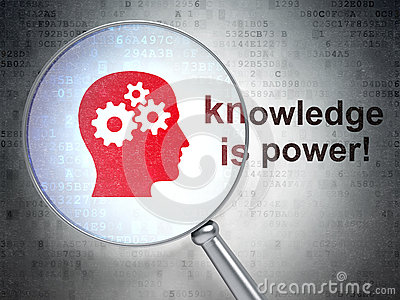 Education concept: Head Gears and Knowledge Is