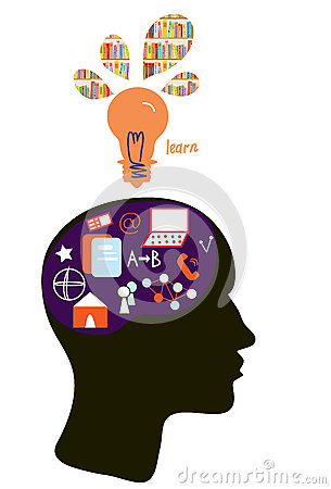 Education concept with head silhouette