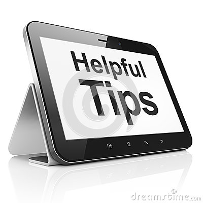 Education concept: Helpful Tips on tablet pc