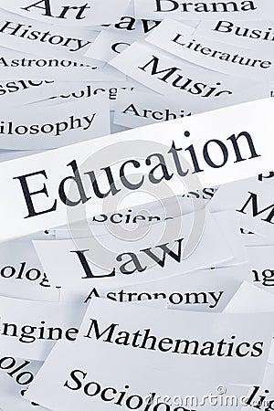 Education Concept Vertical