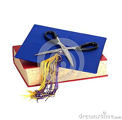 Education Cuts - Scissors on top