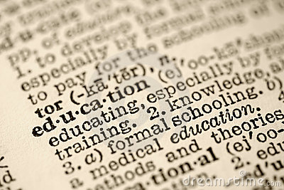 Education in dictionary.