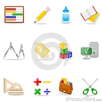Free Education Icon Set Stock Photography - 5349562