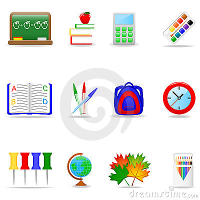 Free Education Icon Set Royalty Free Stock Photography - 6698617
