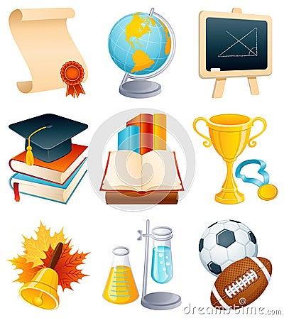 Free Education Icon Set Royalty Free Stock Images - 7419279