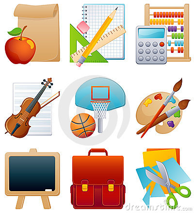 Free Education Icon Set Stock Photo - 7677470