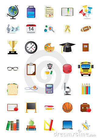 Education Icons Stock Image - Image: 15680011