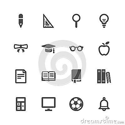 Free Education Icons Stock Image - 36407291