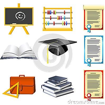 Free Education  Icons Royalty Free Stock Photos - 6153648