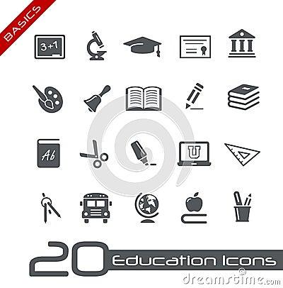 Free Education Icons // Basics Royalty Free Stock Photo - 26170365