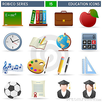 Free Education Icons - Robico Series Stock Images - 13796994