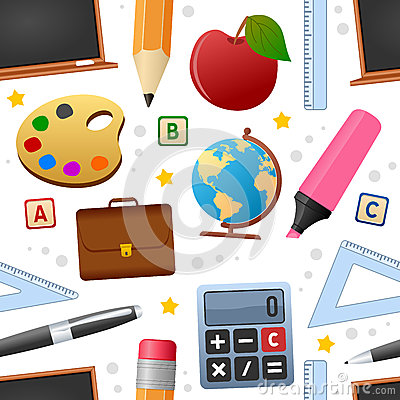 Education Icons Seamless Pattern