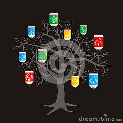 Education idea. tree idea