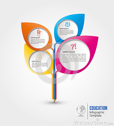 Free Education Info Graphic Template Design Stock Image - 57036571
