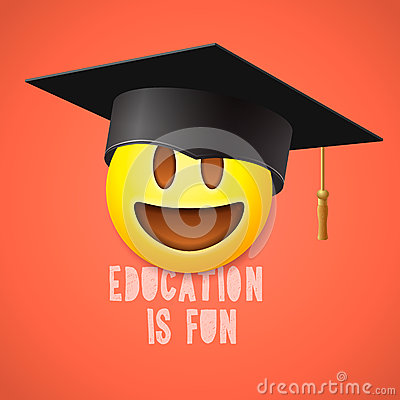 Free Education Is Fun, Emoticon Laughing Royalty Free Stock Image - 63857176