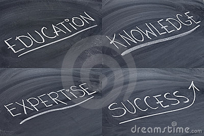 Education, knowledge, expertise and success