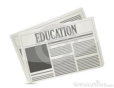 Education newsletter illustration design