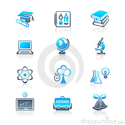 Education objects icons | MARINE series