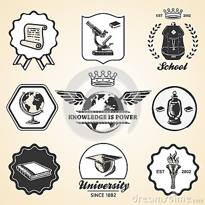 Free Education School Academy University Vintage Symbol Royalty Free Stock Photos - 59975008