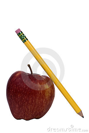 Education Series (apple and pencil)