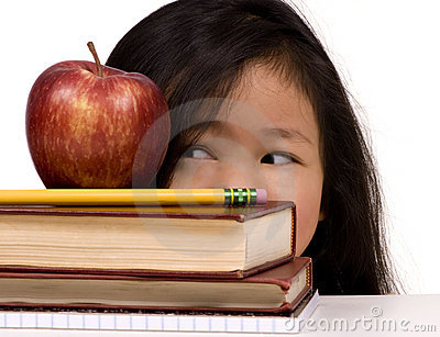 Education Series (looking At The Apple) Royalty Free Stock Photo - Image: 1986055