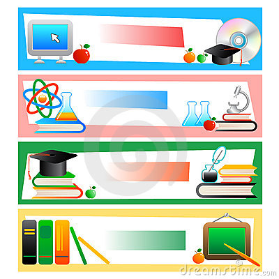 Education - set of banners