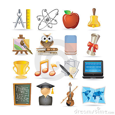 Education set of icons