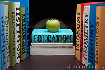 Education study school college books and apple