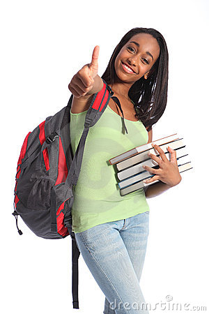 Free Education Success African American Teenager Girl Royalty Free Stock Images - 20870989
