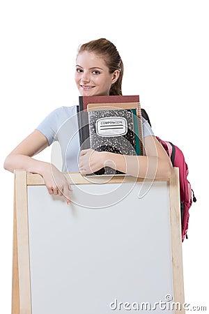 Education template Friendly Caucasian high school