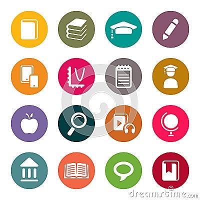 Free Education Theme Icon Set Stock Photos - 33800363