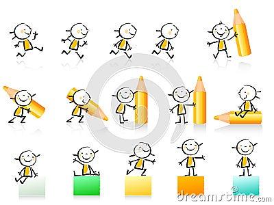 Educational icon set