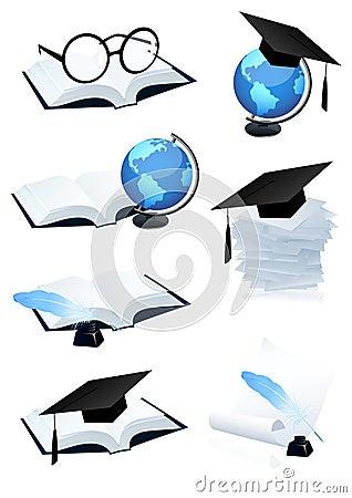 Free Eduction Icon Set Stock Photography - 14296002