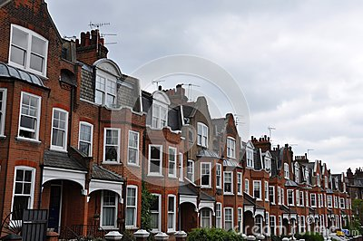 Edwardian houses  London UK