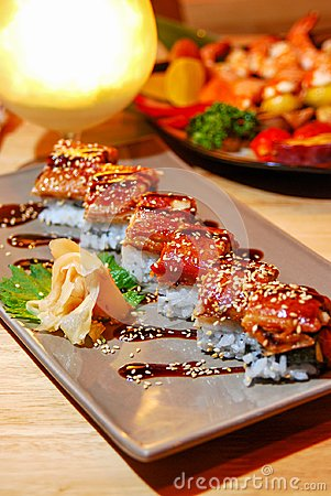 Free Eel Grilled With Rice Stock Photo - 103943910