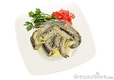 Eel in sauce