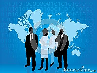 Een bedrijfs mensendeel van technologiewereld