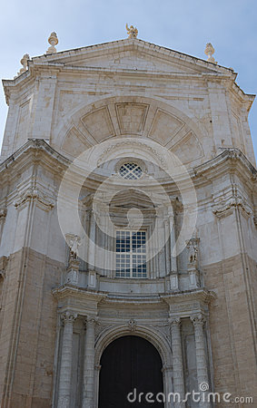 Een deel van de Kathedraal van Cadiz