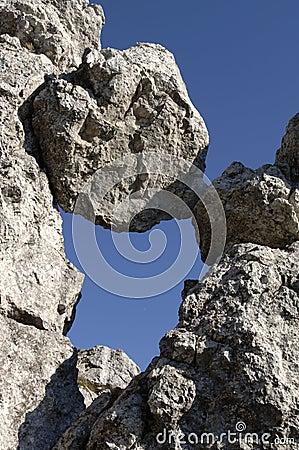 Een geblokkeerde rots